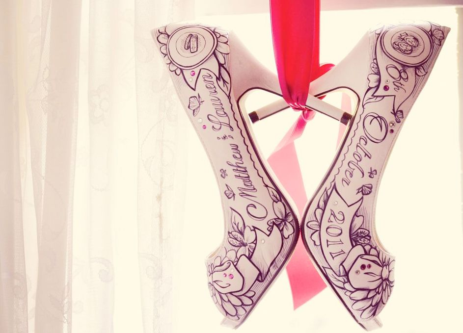 opvallende trouwschoenen