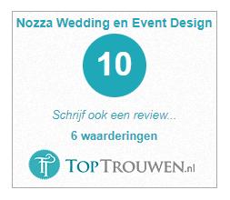 ervaringen bruidsparen met Nozza via toptrouwen.nl